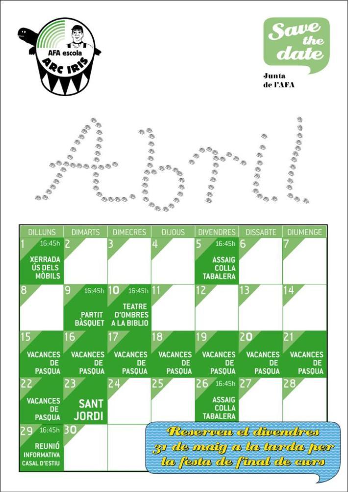 calendari Abril