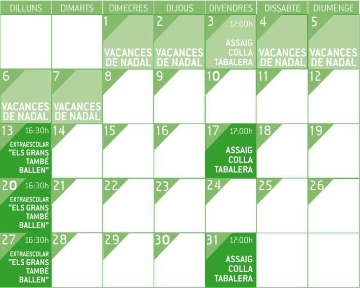 Calendari gener afa arc iris